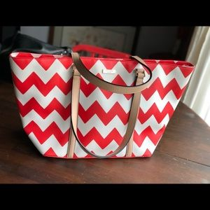 KATE SPADE South Of The Border Med Tote Chevron